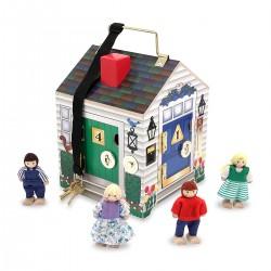 Drewniany domek z dźwiękami, kluczami, zamkami Melissa & Doug