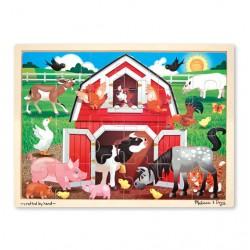 Drewniane puzzle 24 elementów farma Melissa&Doug