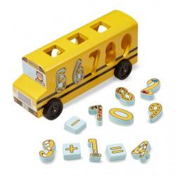 Autobus drewniany sorter matematyczny Melissa&Doug